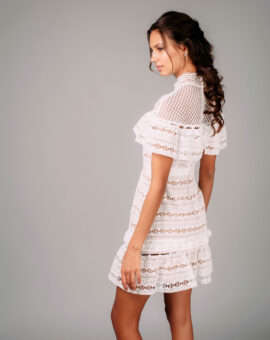 Self-Portrait Yoke Frill Mini Dress sidobild