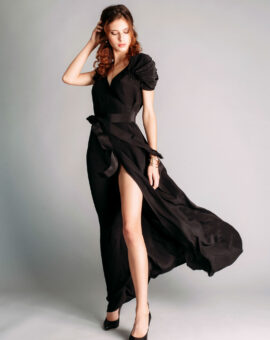 Rent designer dress in silk from By Malina