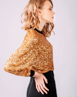 AQAQ Sequin Lifeform Midi Dress närbild