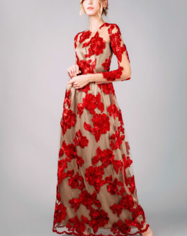 By Malina red Isolde dress