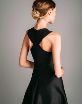 Hyra aftonklänning Theia Couture High-Low Black Sleeveless Gown