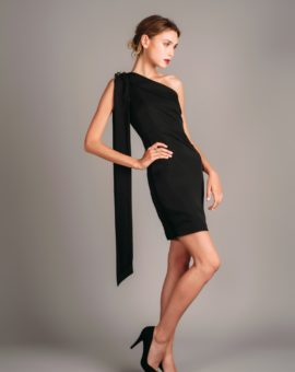 Atelier Miss Lu Black Mini Dress