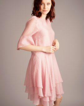 HM Conscious Exclusive Pink Frill Dress