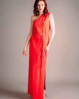 F.A.S red dress with slit