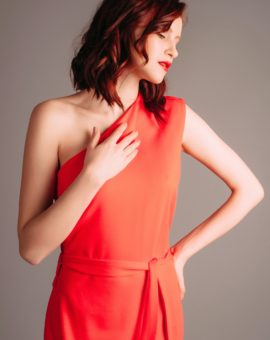 Hyra F.A.S red dress with slit