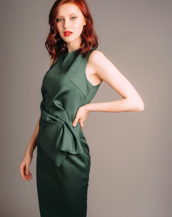 Hyra Atelier Miss Lu Green Draped Dress