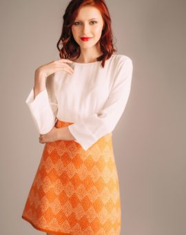 Hyra Patrizia Pepe Abitino Orange Dress