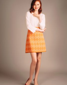 Patrizia Pepe Abitino Orange Dress