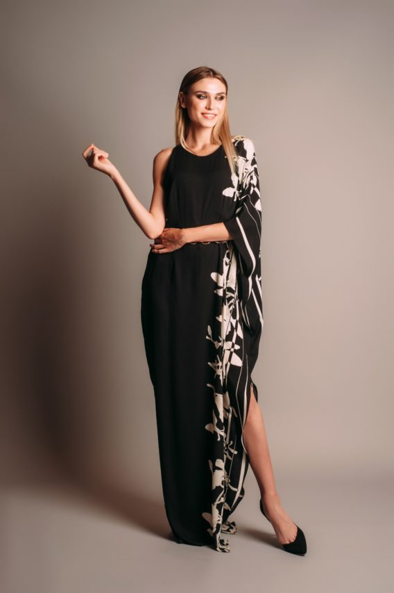 Halston Heritage Printed Gown