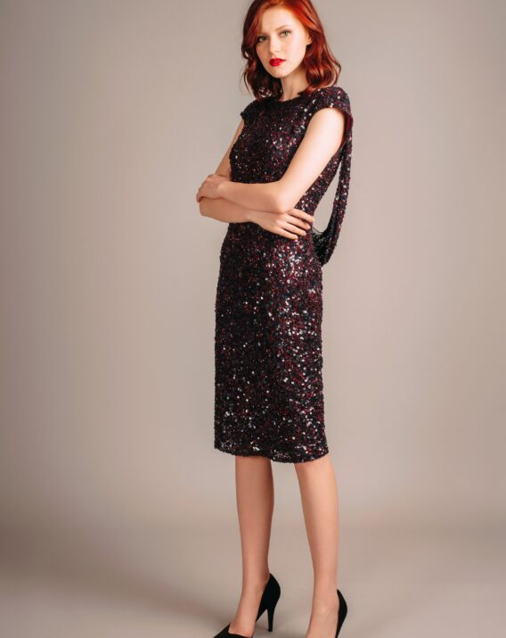 Rent Theia Couture Sequin Open Back Dress
