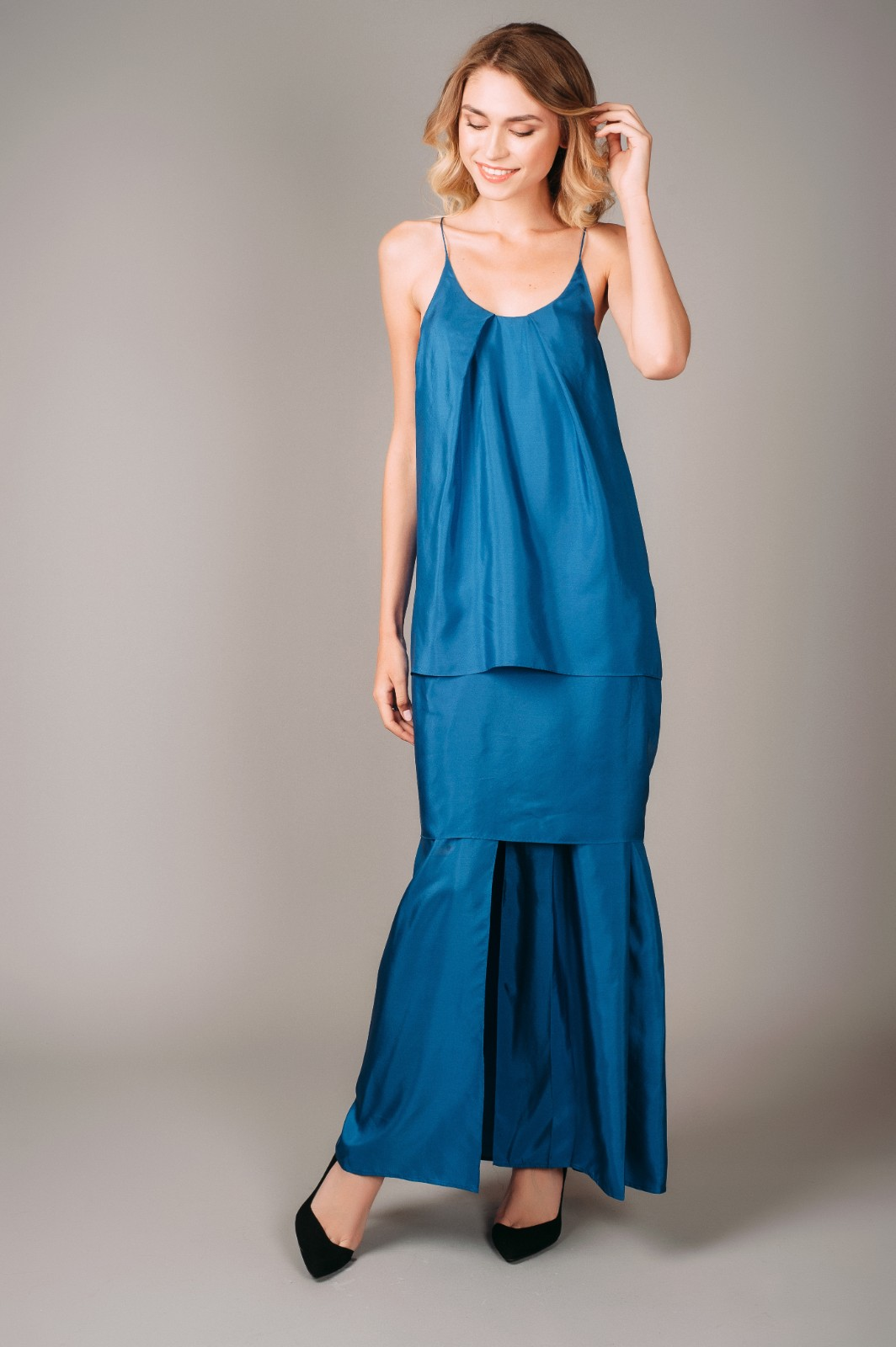 Acne Studios Blue Satya Silk Dress