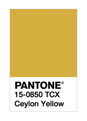Ceylon Yellow Pantone