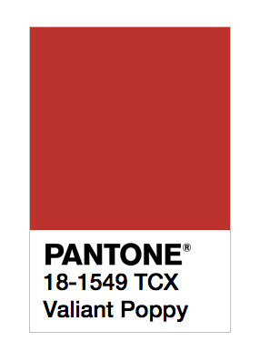 Valiant Poppy Pantone