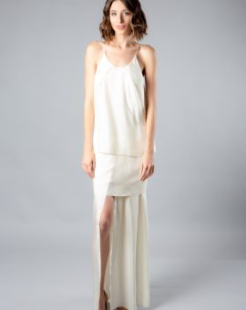Acne Studios White Silk Dress