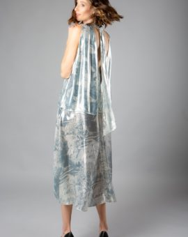 Rent HM Conscious Exclusive Metallic lyocell and silk dress
