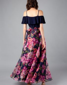 Hyr Eliza J Cold-Shoulder Floral Gown