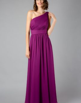 Angelina Faccenda Purple A-Line One-shoulder ball dress