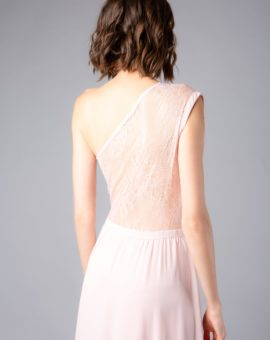Rent Laundry by Shelli Segal Pink One shoulder Gown