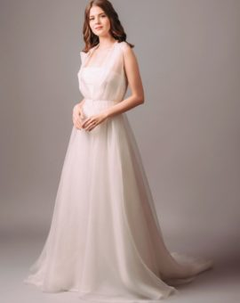 Rent Atelier Pronovias Silk Wedding Gown with a Train and Detachable Coat