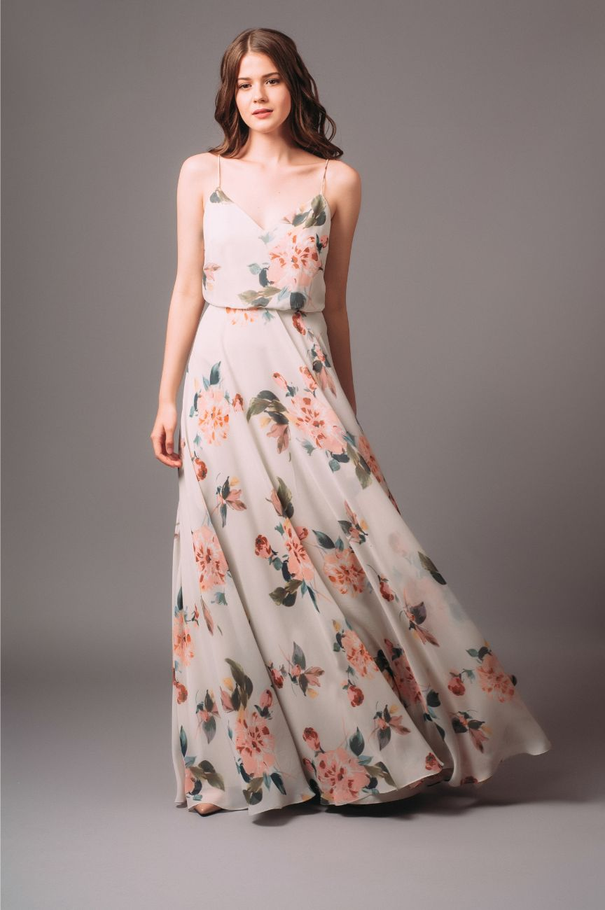 Jenny Yoo Floral Inesse Blouson Gown
