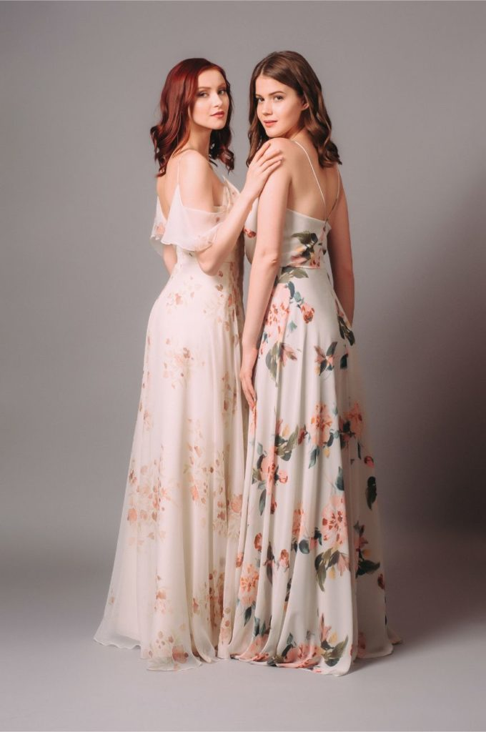 Rent Jenny Yoo Floral Inesse Blouson Gown