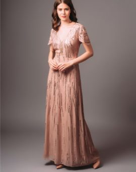 Jenny Packham Pink Rita Maxi Dress