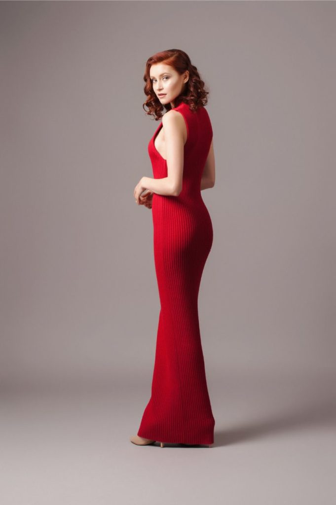 Solace London Red Knit Dress