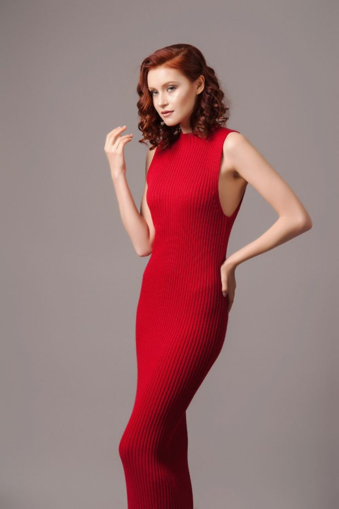 Hyra Solace London Red Knit Dress