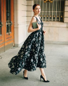 H&MxErdem Floral High-Low Gown