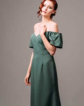 Hyra By Malina Jess Maxi Dress Green