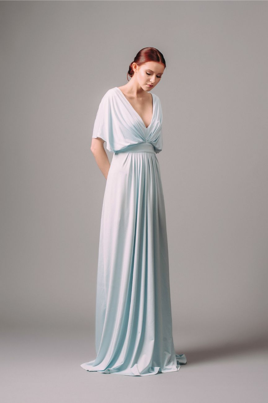 Rent By Malina Bree Blue Maxi Dress