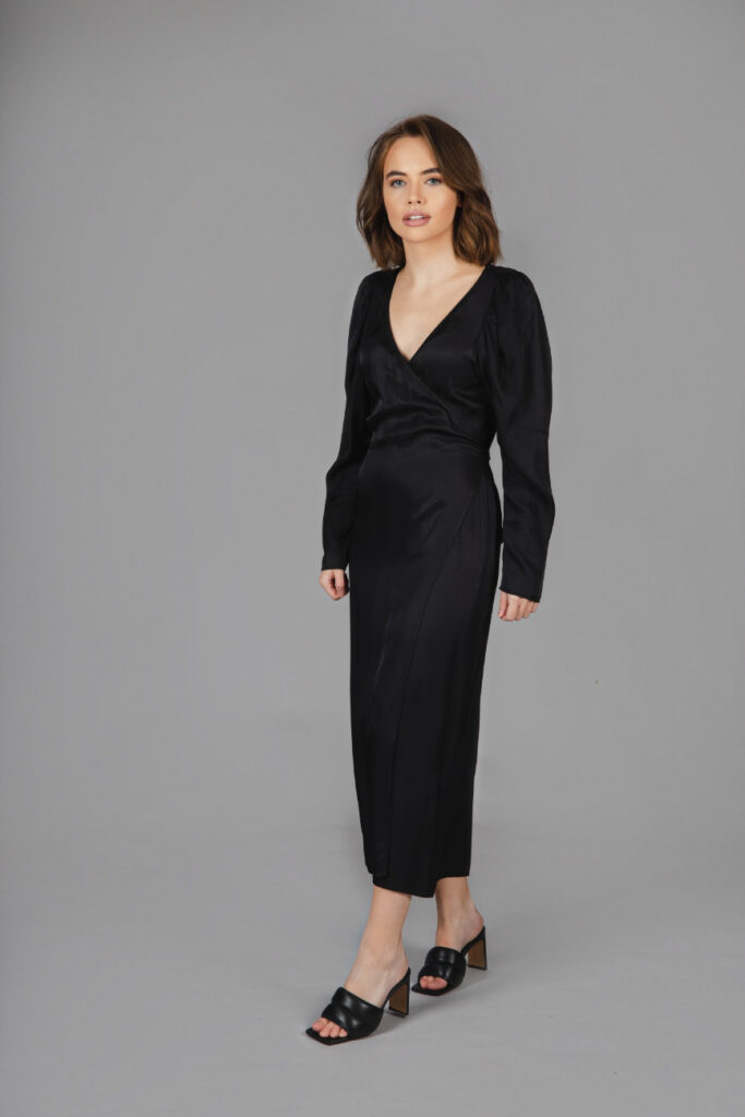 Rent & Other Stories - Puff Sleeve Midi Wrap Dress