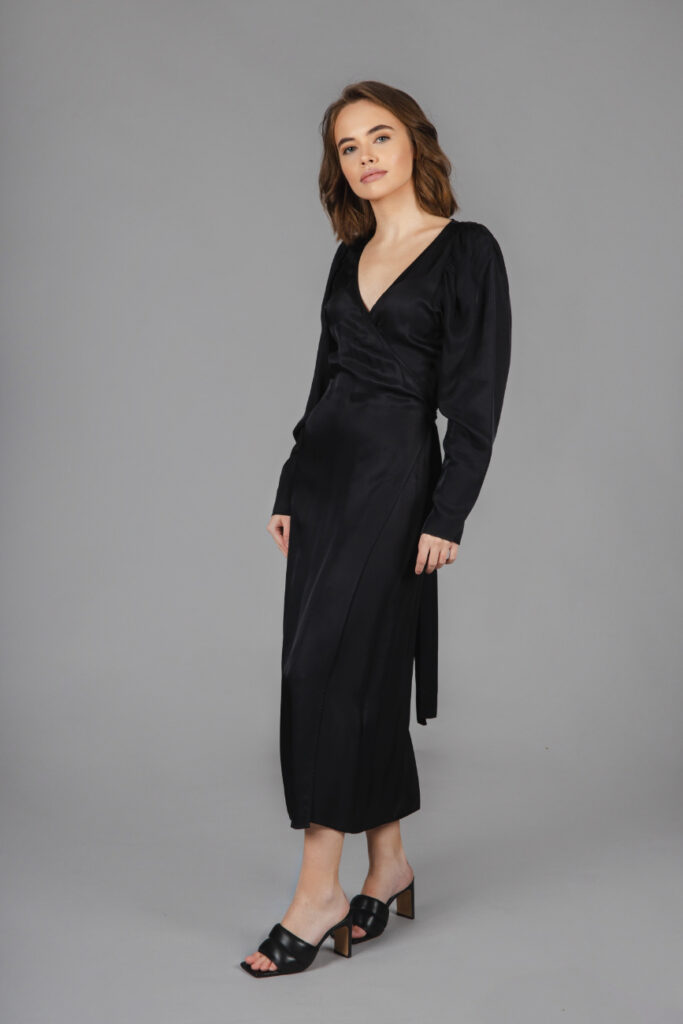 & Other Stories - Puff Sleeve Midi Wrap Dress