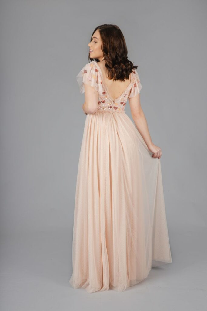 Rent Needle & Thread - Love maxi dress in rose pink