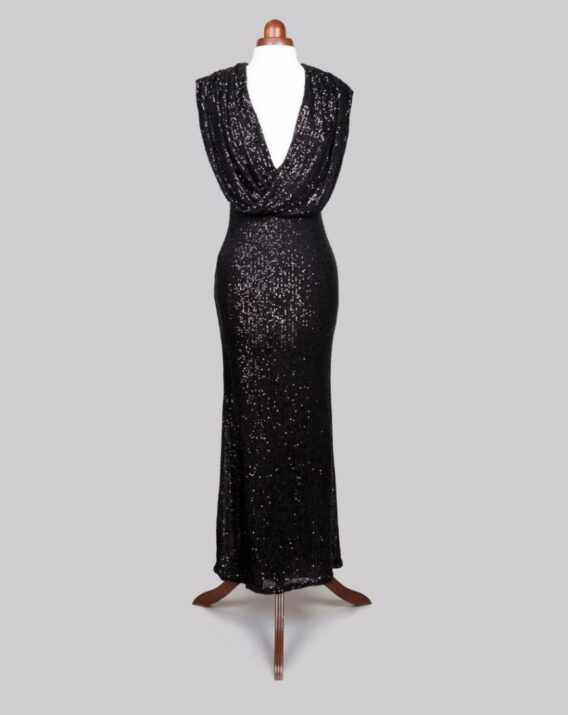 Jarlo - Chloe Wrap Front Sequin Maxi Dress