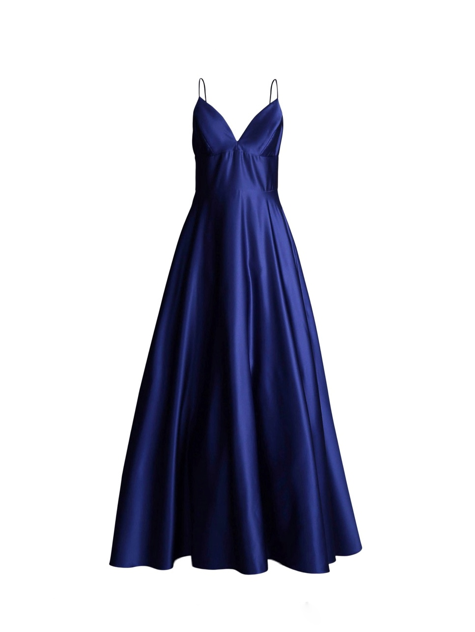 Avery G - Blue Satin Ball Gown