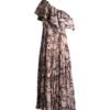 Rent Solace London - Rosa Midaxi Dress Taupe Snake Print