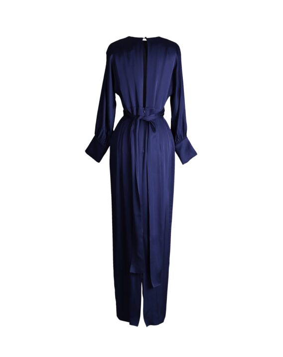 Rent By Malina - Navy Blue Satin Maxi Dress