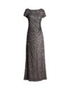 Rent Adrianna Papell - Beaded Cowl-Back Gown