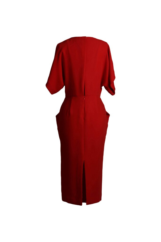 Rent & Other Stories - Open Back Sleeve Dress Red