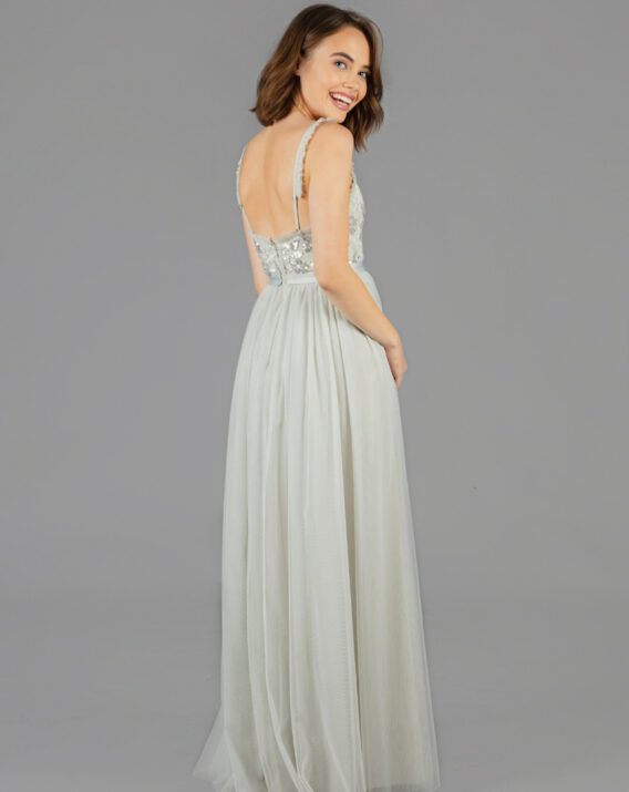 Rent Needle & Thread - Sequin maxi dress in mint green