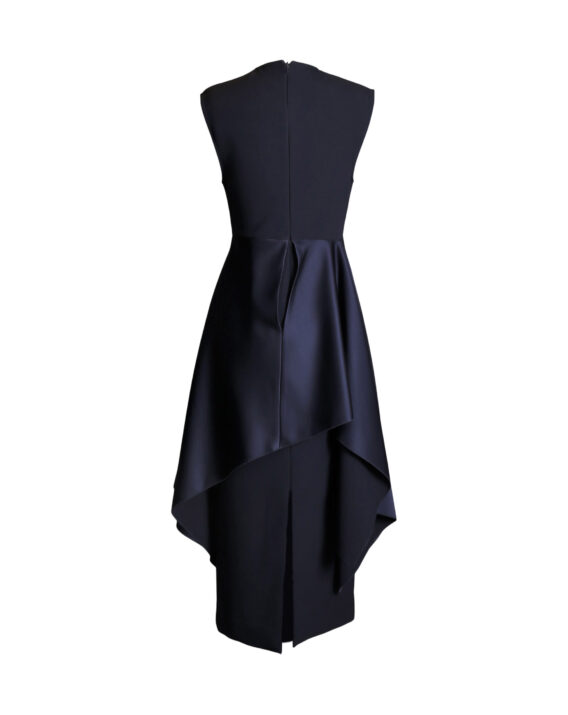 Rent Solace London - Navy Midi Wiggle Party Dress