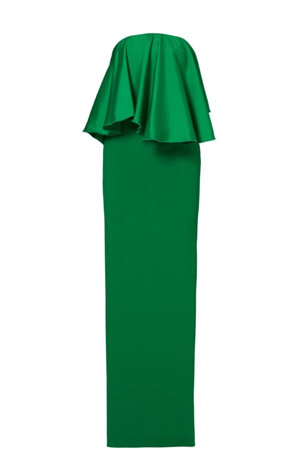 Solace London - Green Liv Ruffle Gown